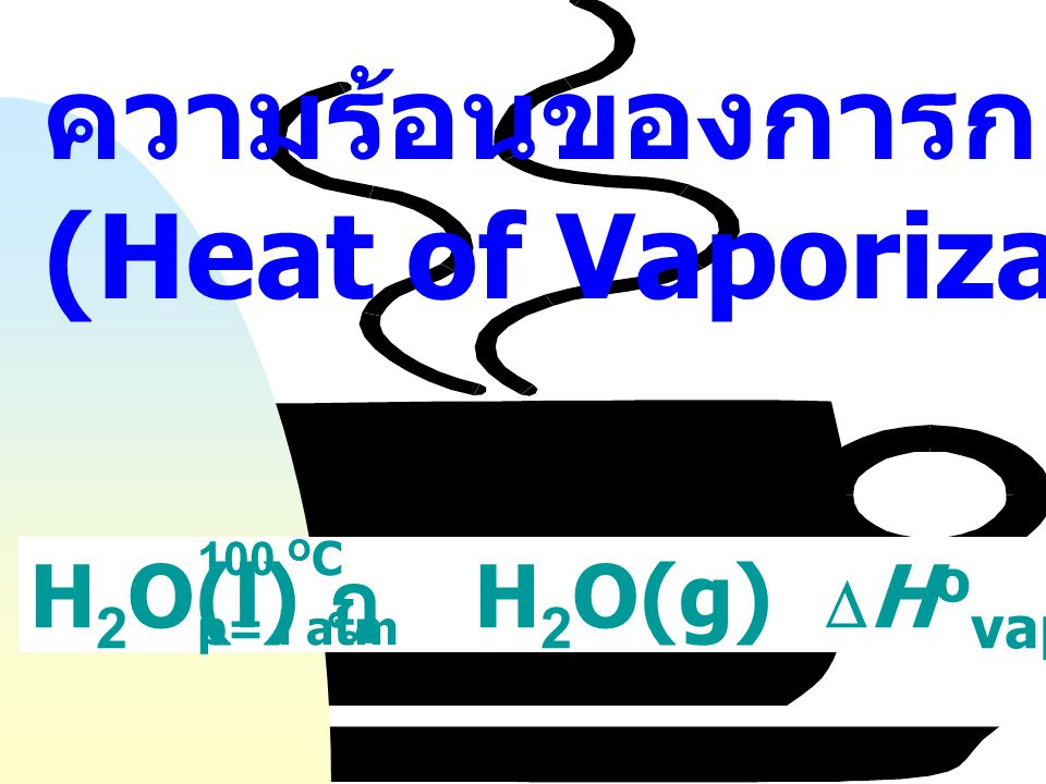 ความร้อนของการกลายเป็นไอ (Heat of Vaporization)