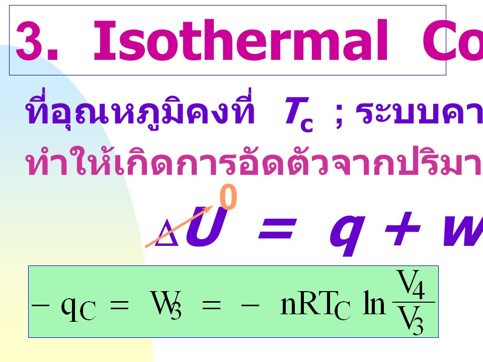 3. Isothermal Compression