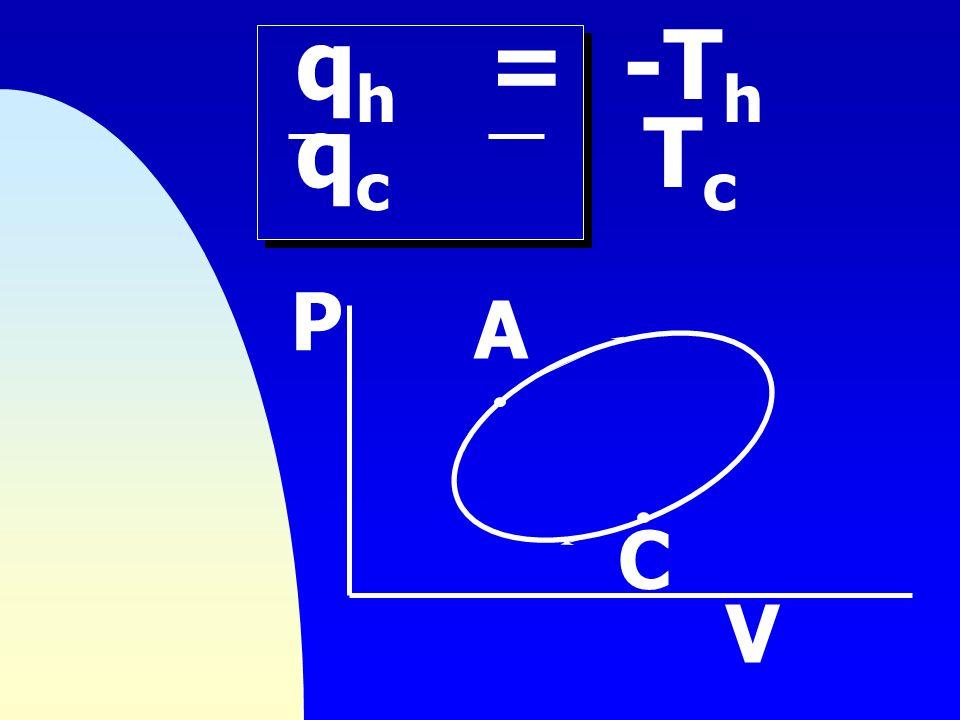 qh = -Th qc Tc P A C V