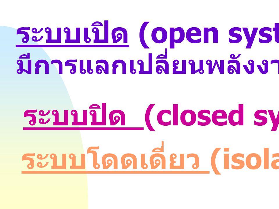 ระบบเปิด (open system) :