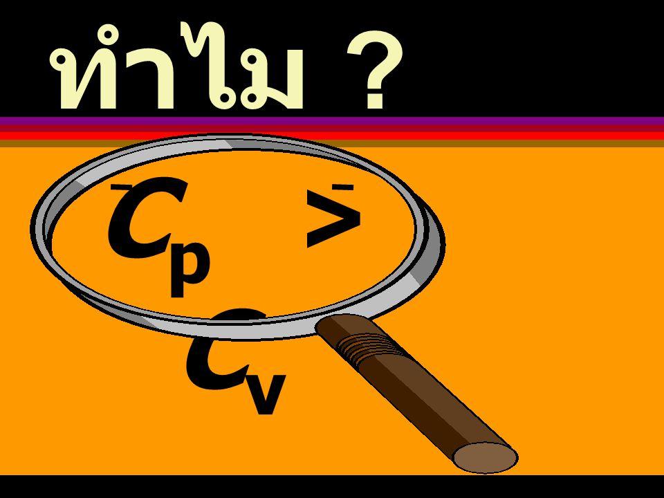 ทำไม Cp > Cv