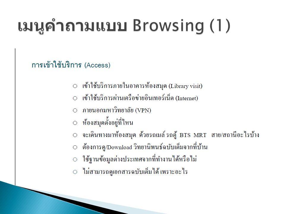 เมนูคำถามแบบ Browsing (1)