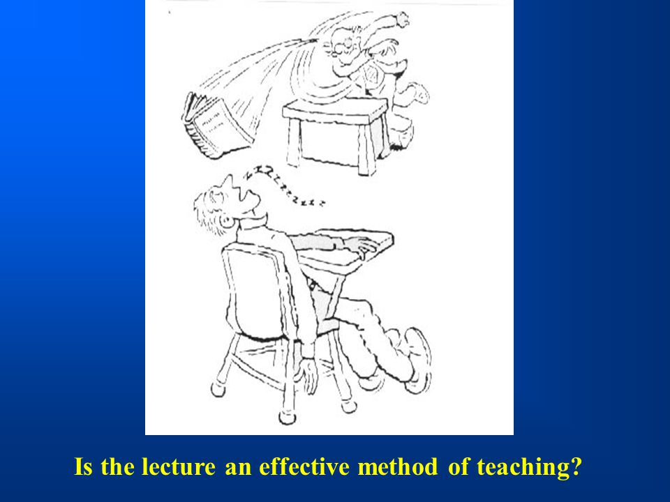 Is the lecture an effective method of teaching