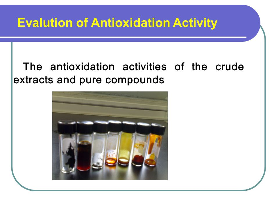 Evalution of Antioxidation Activity
