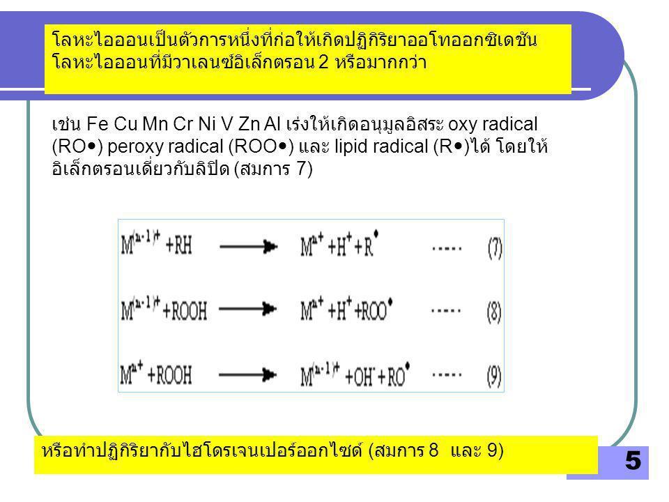 โลหะไอออนเป็นตัวการหนึ่งที่ก่อให้เกิดปฏิกิริยาออโทออกซิเดชันโลหะไอออนที่มีวาเลนซ์อิเล็กตรอน 2 หรือมากกว่า
