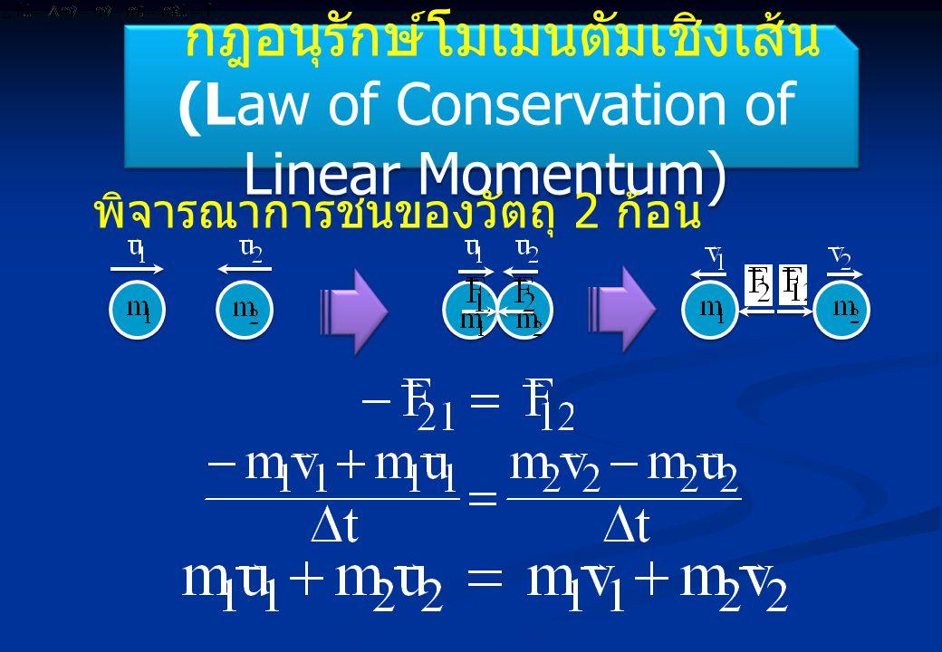 กฎอนุรักษ์โมเมนตัมเชิงเส้น (Law of Conservation of Linear Momentum)