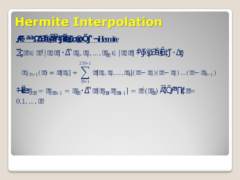 Hermite Interpolation