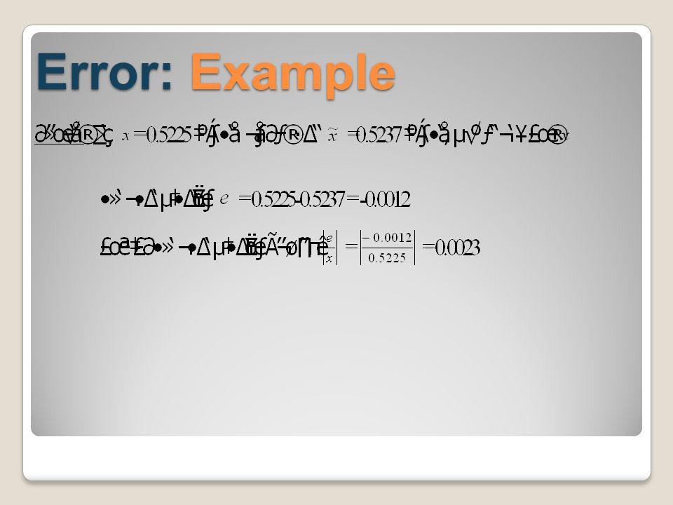 Error: Example