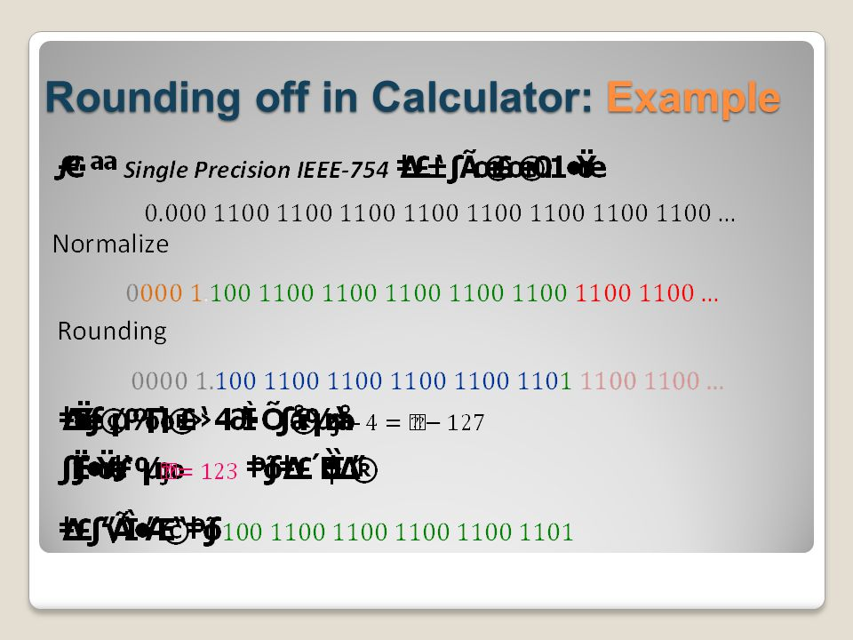Rounding off in Calculator: Example
