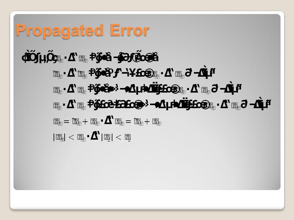 Propagated Error