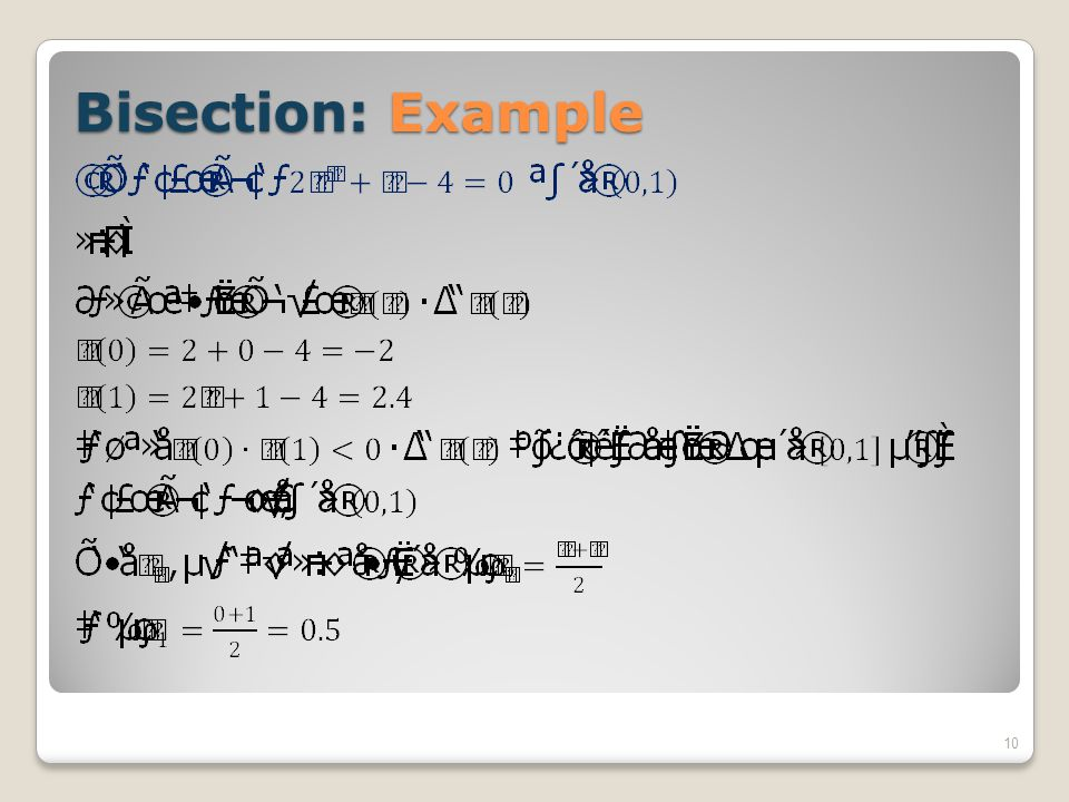 Bisection: Example
