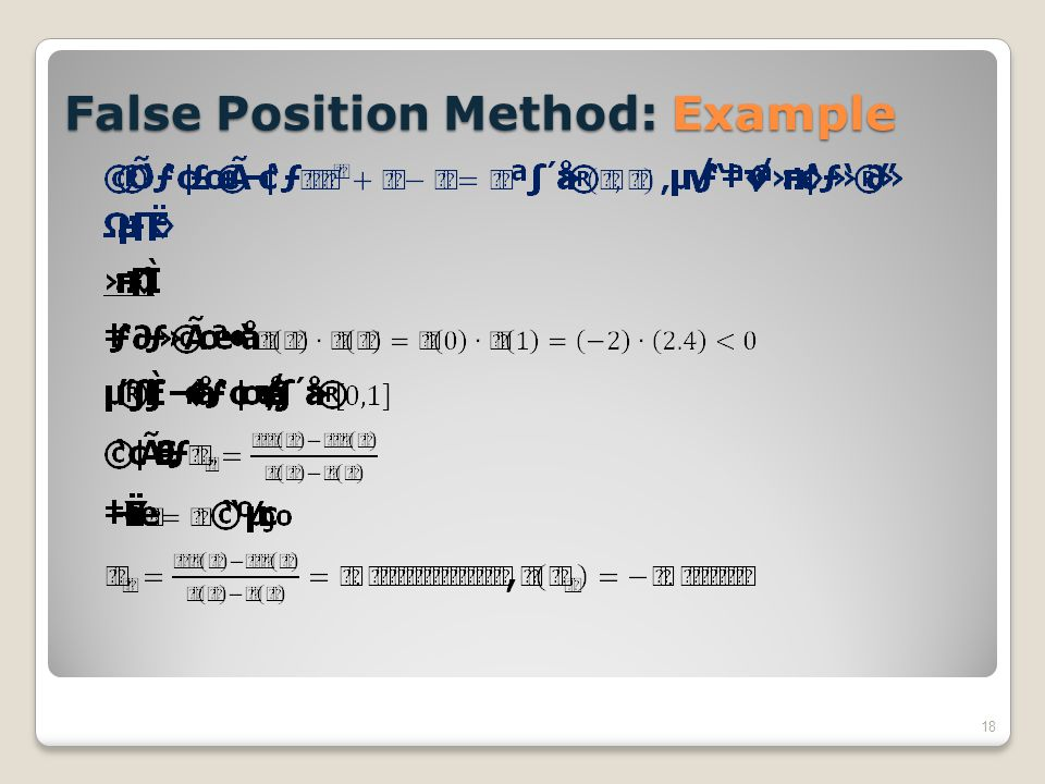 False Position Method: Example