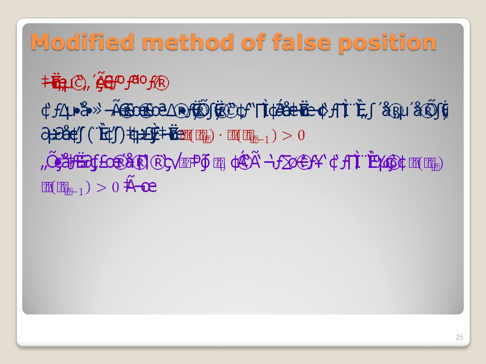 Modified method of false position