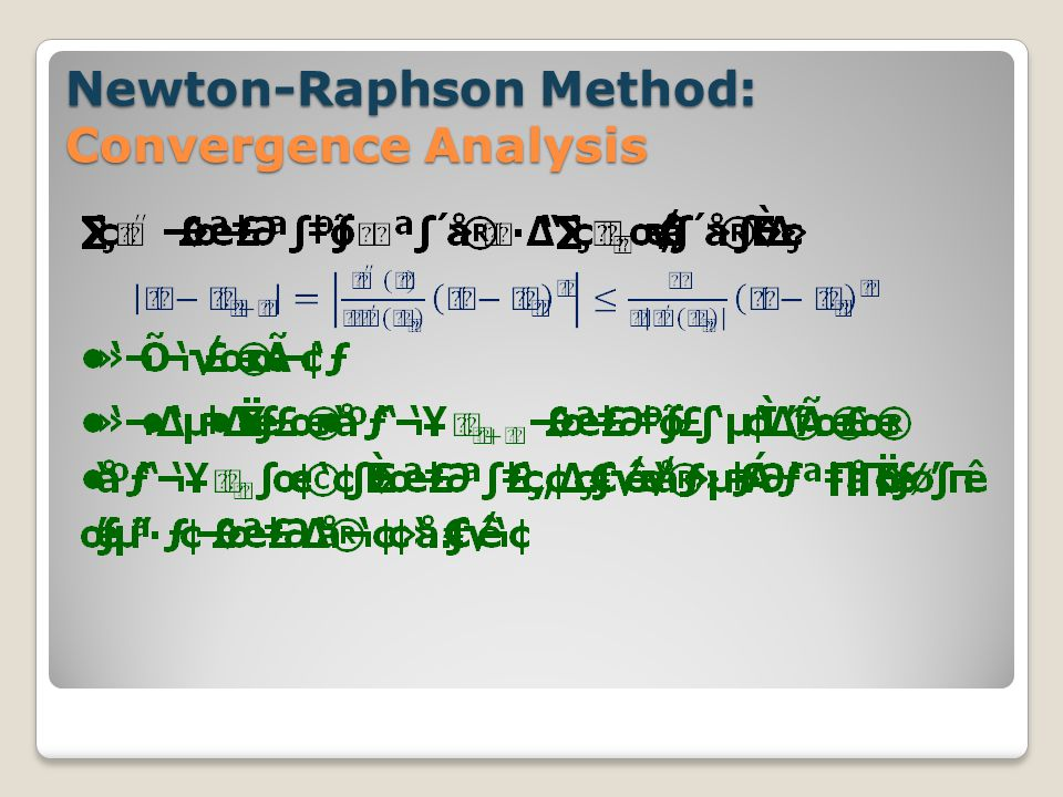 Newton-Raphson Method: Convergence Analysis