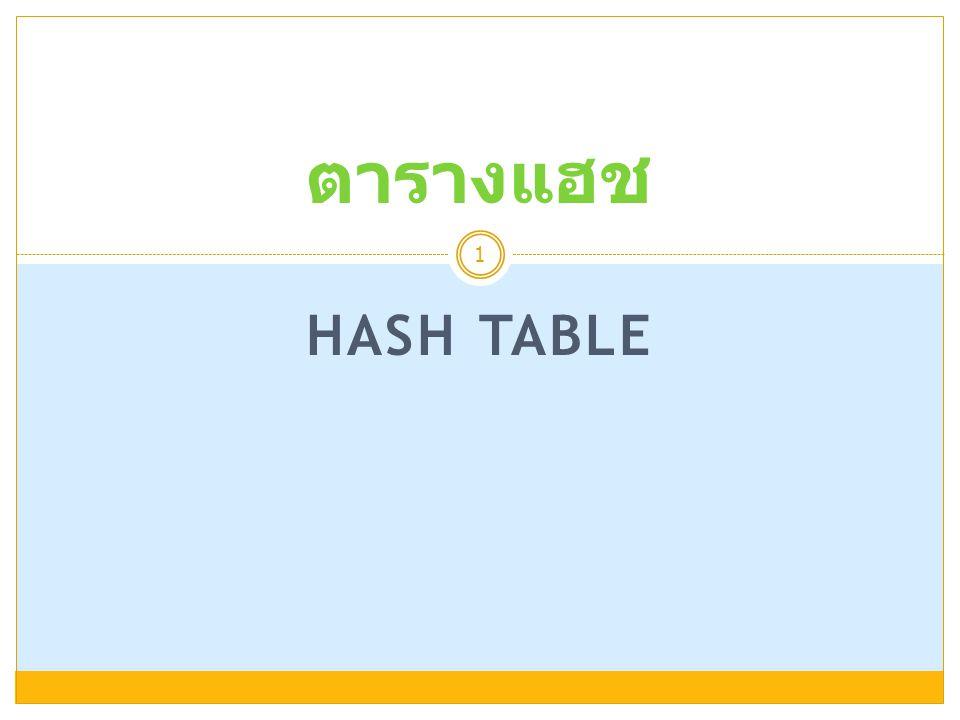 ตารางแฮช Hash Table