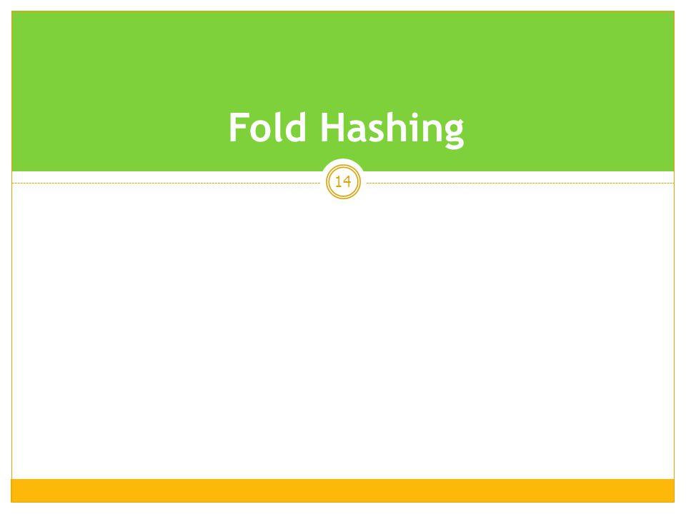 Fold Hashing