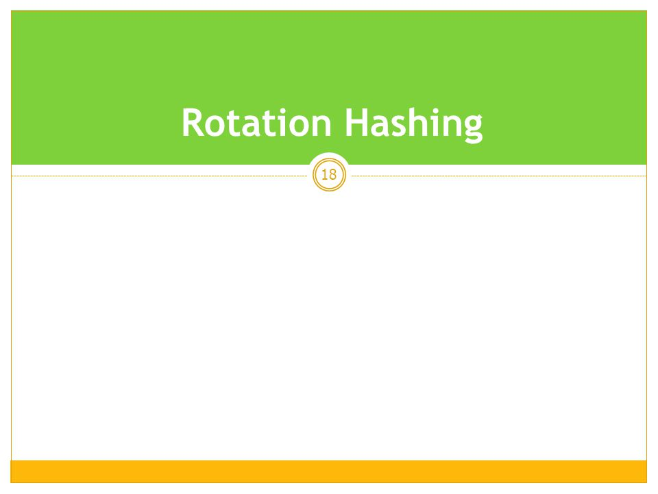 Rotation Hashing