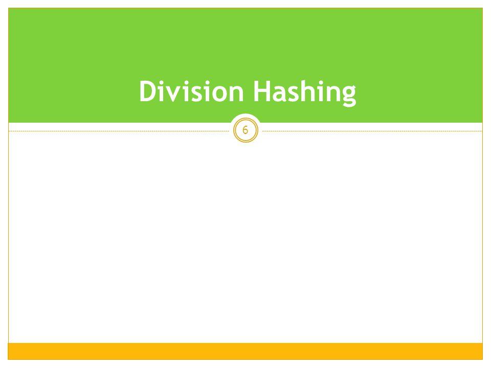 Division Hashing