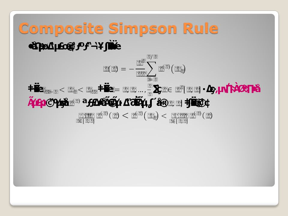 Composite Simpson Rule