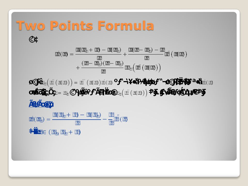 Two Points Formula
