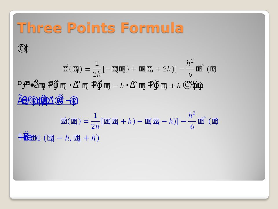 Three Points Formula