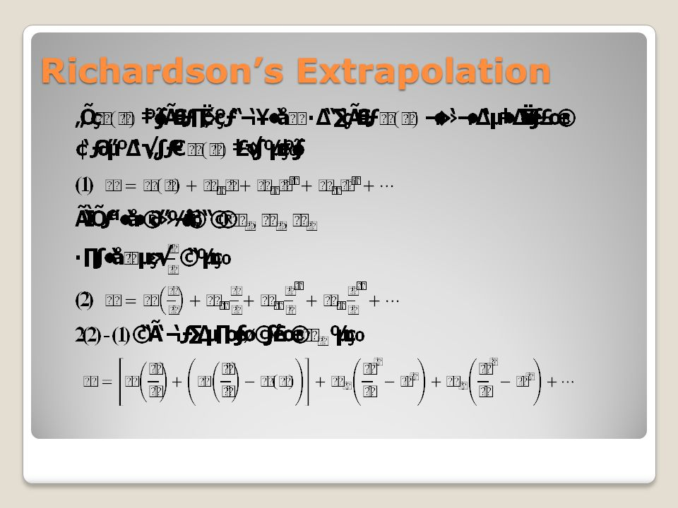 Richardson's Extrapolation