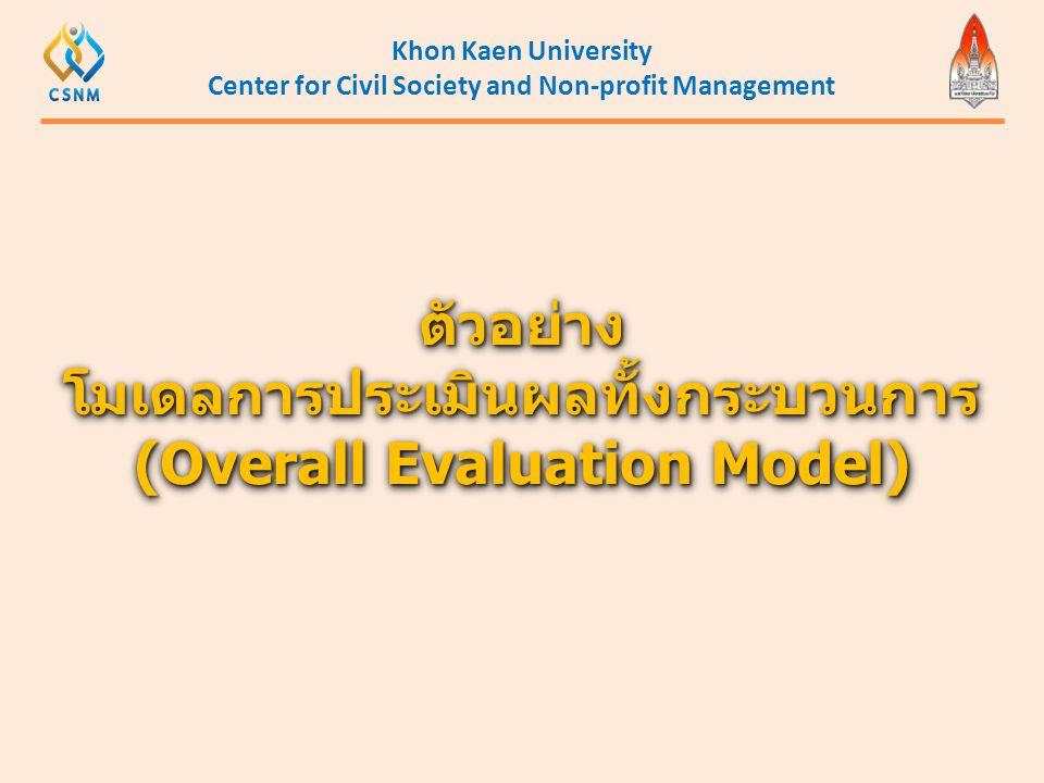 ตัวอย่าง โมเดลการประเมินผลทั้งกระบวนการ (Overall Evaluation Model)