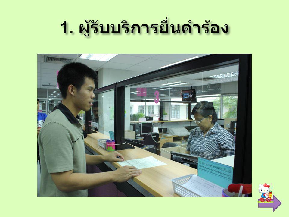 1. ผู้รับบริการยื่นคำร้อง