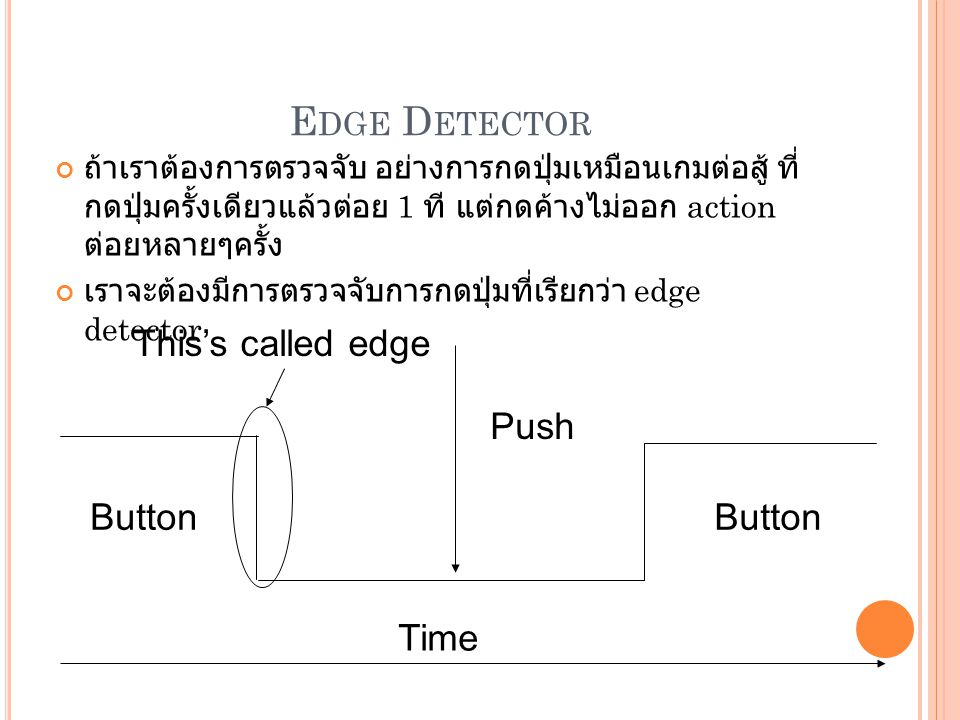 Edge Detector This's called edge Push Button Time
