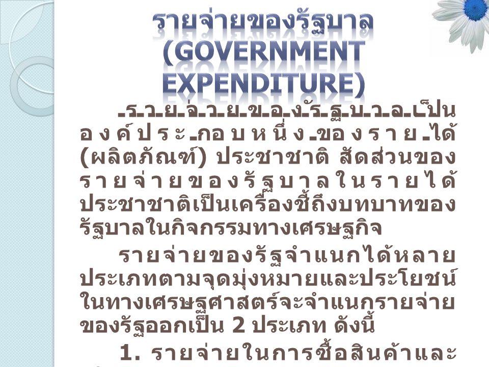 รายจ่ายของรัฐบาล (Government Expenditure)