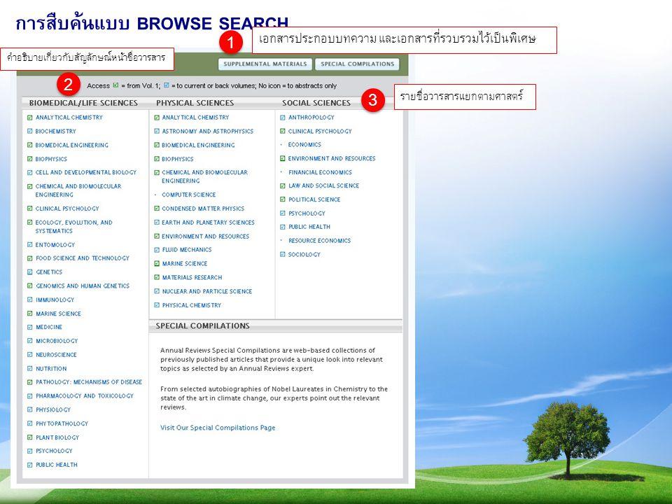 การสืบค้นแบบ BROWSE SEARCH