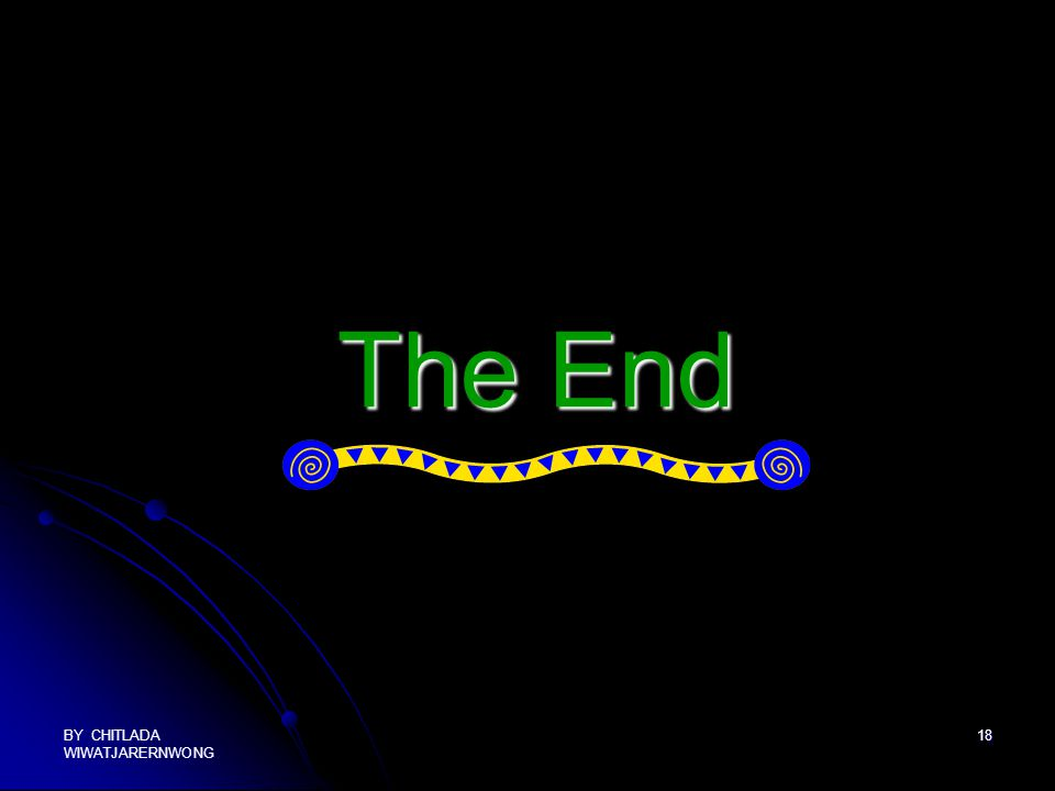 The End BY CHITLADA WIWATJARERNWONG