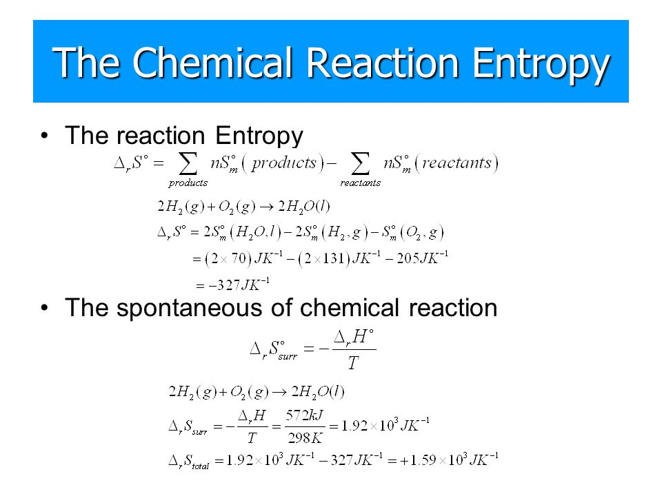 The Chemical Reaction Entropy