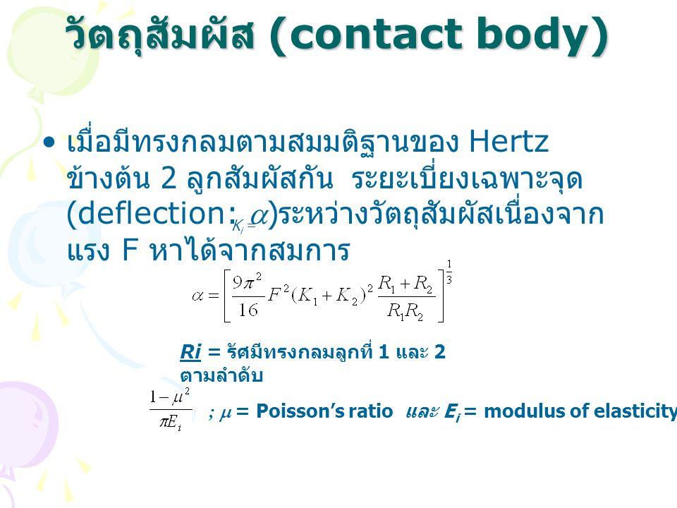 วัตถุสัมผัส (contact body)