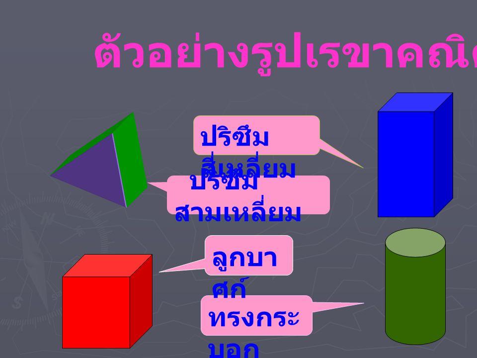 ตัวอย่างรูปเรขาคณิต 3 มิติ
