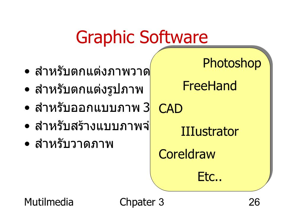 Graphic Software Photoshop FreeHand สำหรับตกแต่งภาพวาด