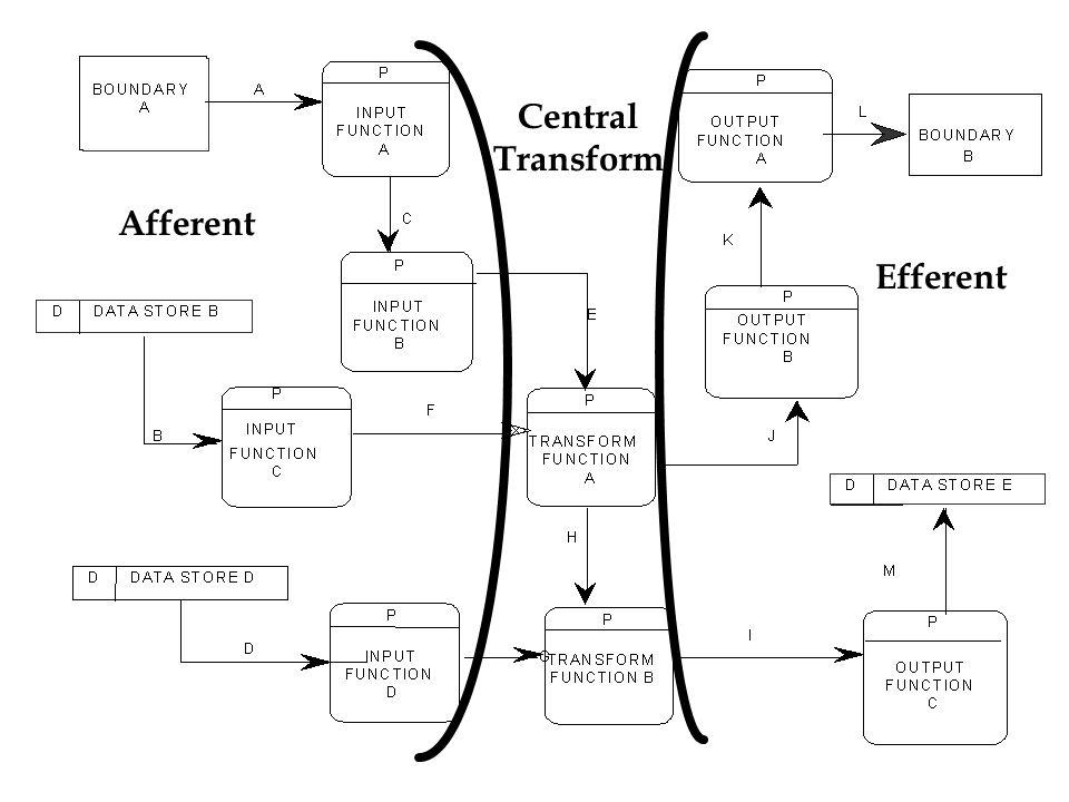 Central Transform Afferent Efferent