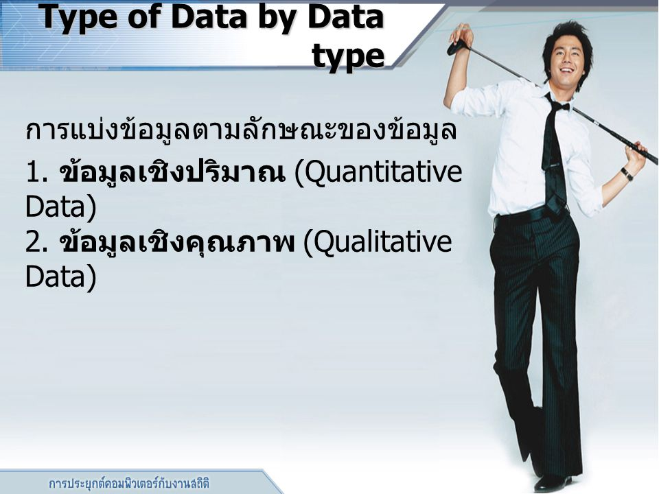 Type of Data by Data type