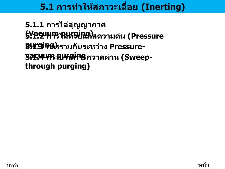 5.1 การทำให้สภาวะเฉื่อย (Inerting)