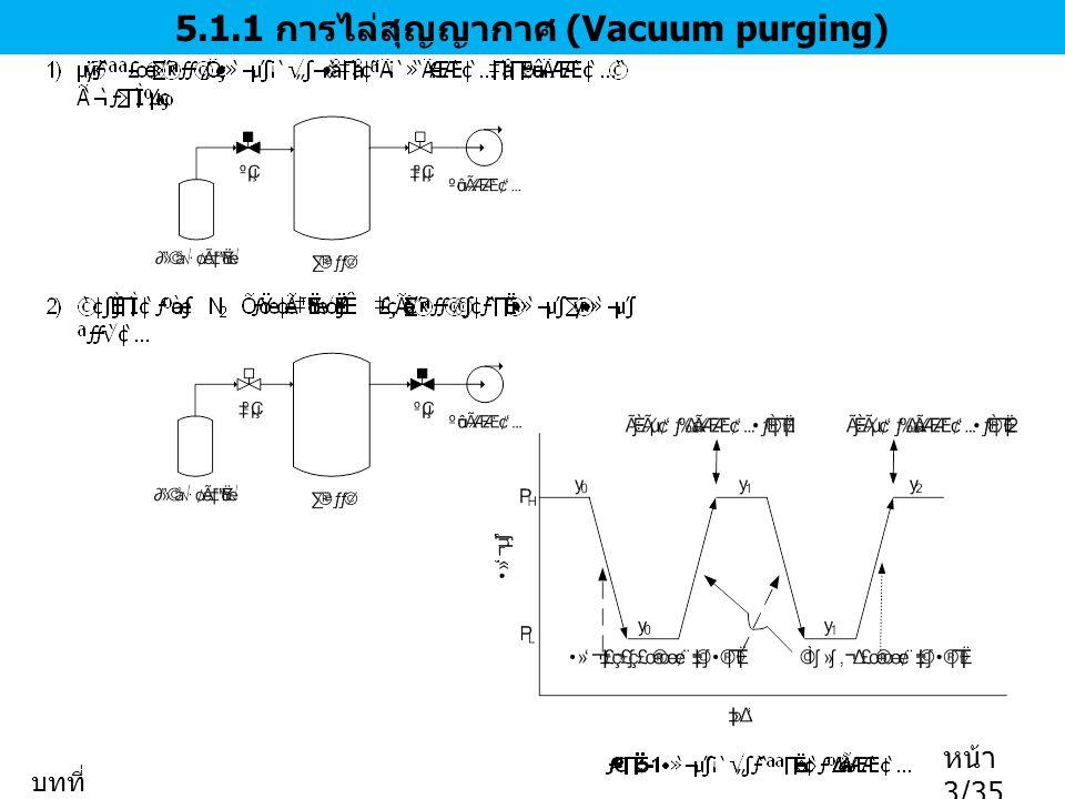 5.1.1 การไล่สุญญากาศ (Vacuum purging)