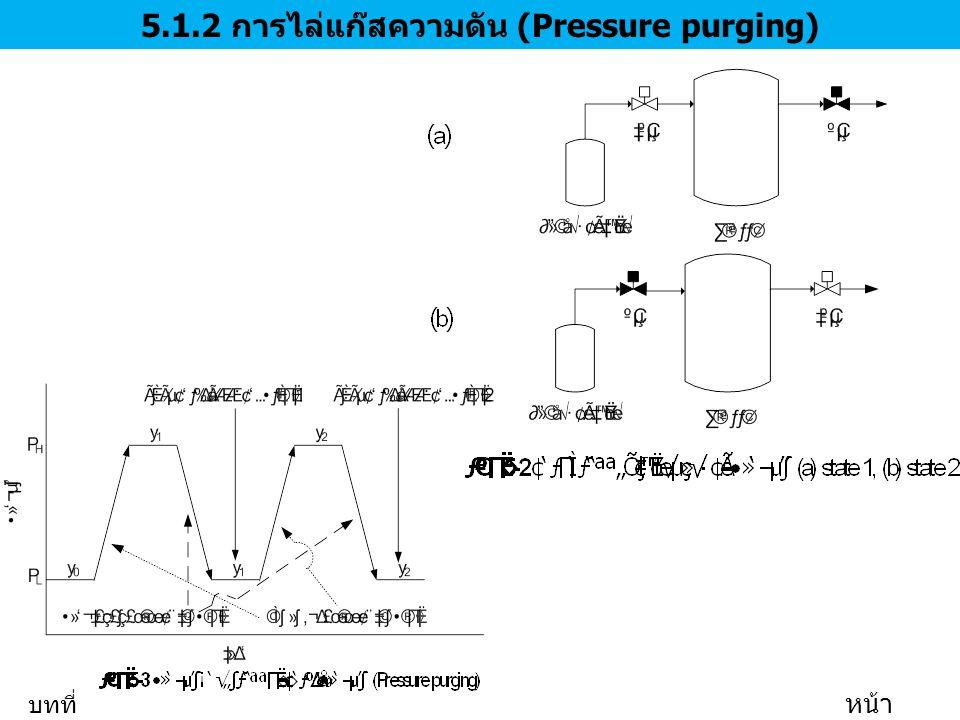 5.1.2 การไล่แก๊สความดัน (Pressure purging)