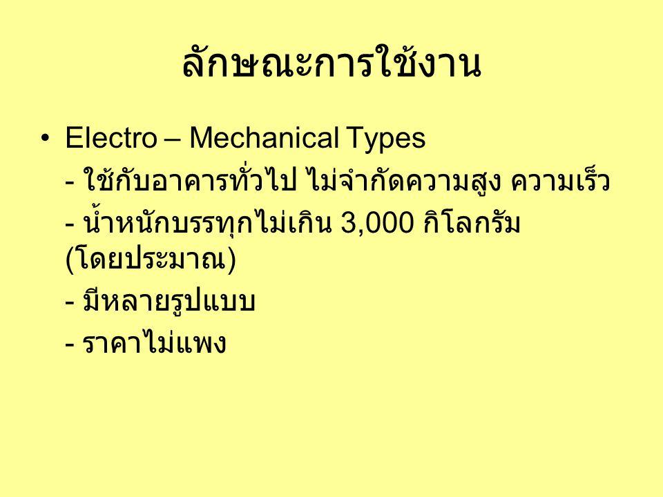 ลักษณะการใช้งาน Electro – Mechanical Types