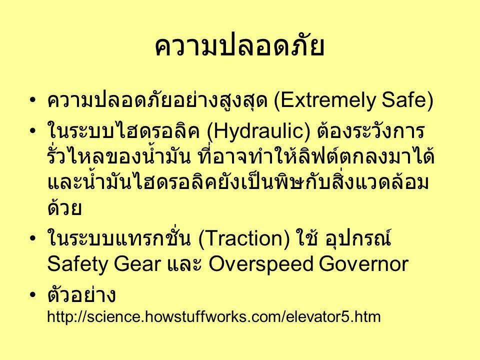 ความปลอดภัย ความปลอดภัยอย่างสูงสุด (Extremely Safe)