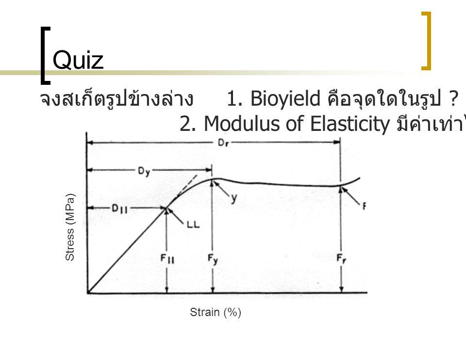 Quiz จงสเก็ตรูปข้างล่าง 1. Bioyield คือจุดใดในรูป