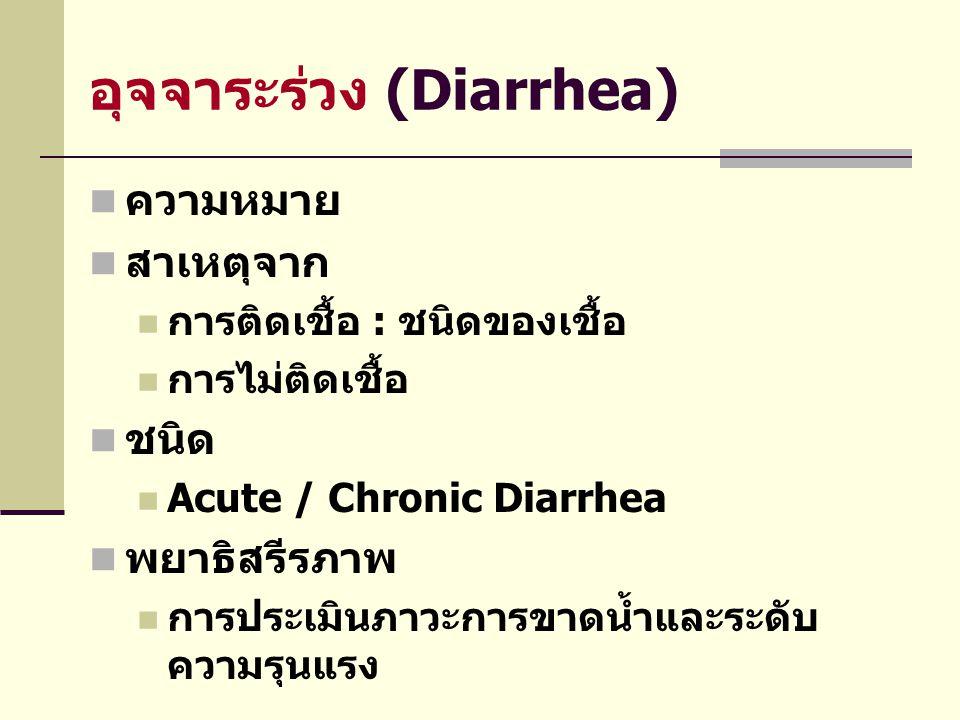 อุจจาระร่วง (Diarrhea)