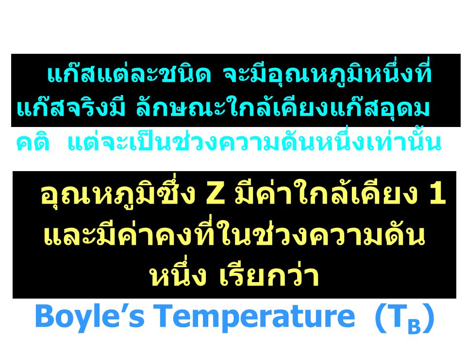Boyle's Temperature (TB)