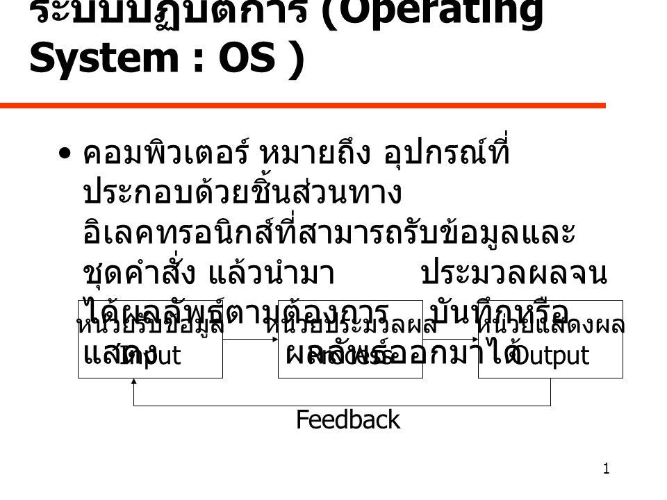 ระบบปฏิบัติการ (Operating System : OS )