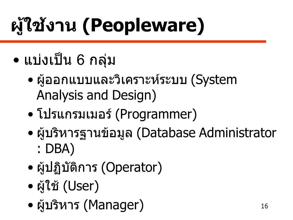 ผู้ใช้งาน (Peopleware)