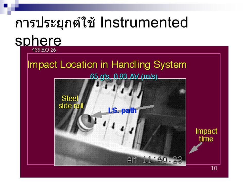 การประยุกต์ใช้ Instrumented sphere
