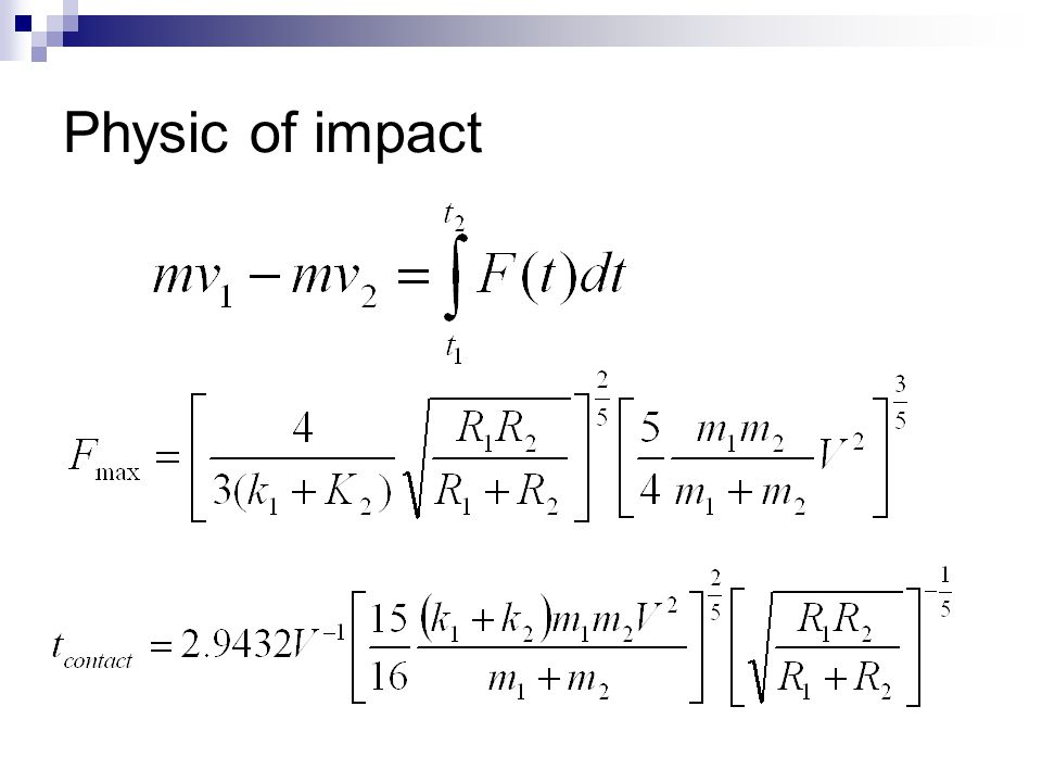 Physic of impact